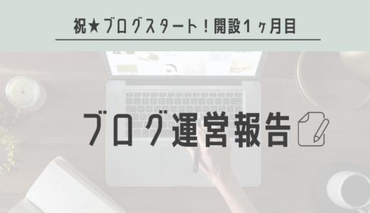 【ブログ運営報告】1ヶ月目振り返り