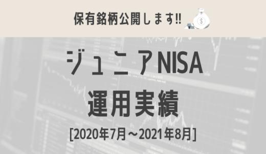 【ジュニアNISA】運用実績をブログで公開!(2020年7月〜2021年8月)